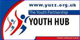 Youth Hub logo and link to Yuzz.org.uk website